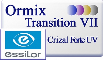 Essilor Ormix 1.6 Transitions VII Crizal Forte UV