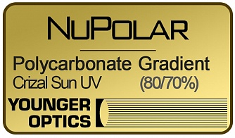 NuPolar Polarized Gradient Polycarbonate 1.59 Crizal Sun UV