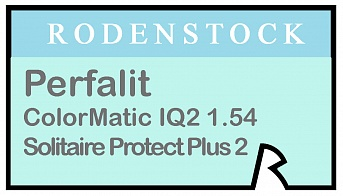 Rodenstock Perfalit ColorMatic IQ2 1.54 Solitaire Protect Plus 2