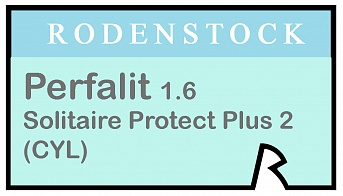 Rodenstock Perfalit 1.6 Solitaire Protect Plus 2 (cyl)