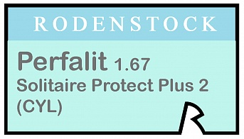 Rodenstock Perfalit 1.67 Solitaire Protect Plus 2 (cyl)