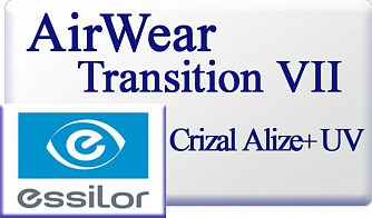 Essilor Airwear 1.59 Transitions VII Crizal Alize+ UV