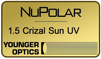 NuPolar Polarized 1.5 Crizal Sun UV