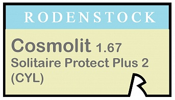 Rodenstock Cosmolit 1.67 Solitaire Protect Plus 2 (cyl)