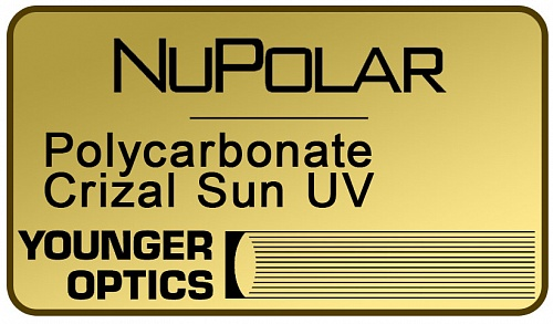 NuPolar Polarized Polycarbonate 1.59 Crizal Sun UV фото 1