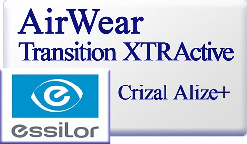 Essilor AirWear Transitions XTRActive Crizal Alize UV  фото 1