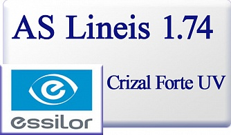 Essilor AS Lineis 1.74 Crizal Forte UV