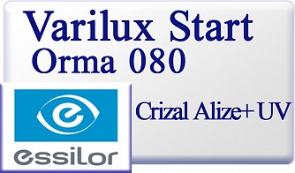 Essilor Varilux Start Orma 1.5 080 Crizal Alize+ UV