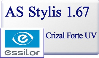 Essilor AS Stylis 1.67 Crizal Forte UV