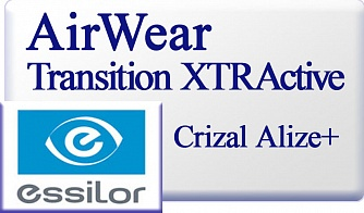 Essilor AirWear Transitions XTRActive Crizal Alize UV