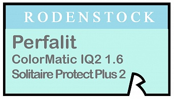 Rodenstock Perfalit ColorMatic IQ2 1.6 Solitaire Protect Plus 2