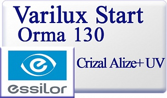 Essilor Varilux Start Orma 1.5 130 Crizal Alize+ UV