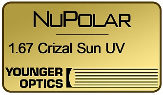 NuPolar Polarized 1.67 Crizal Sun UV